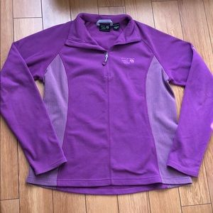 Mountain Hardwear   Purple Fleece 1/4 Zip Sz Lg